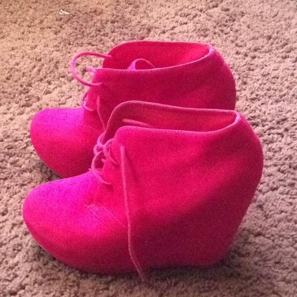 Glaze Shoes   Hot Pink Wedges   Poshmark